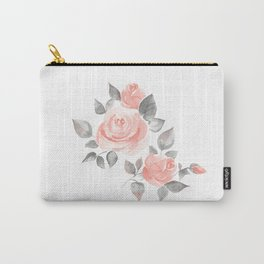 Beautiful roses. Hand-drawn  watercolor flowers Carry-All Pouch