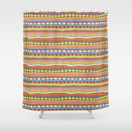 Stripey-Happy Colors Shower Curtain