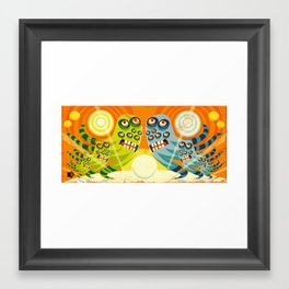 Eye Monsters Framed Art Print