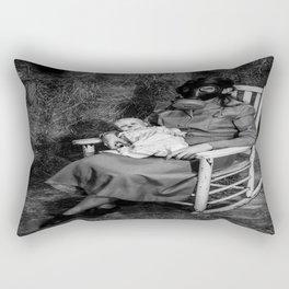 Gas Mask Rectangular Pillow
