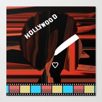 hollywood Canvas Prints featuring Hollywood by AndISky