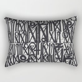 A urban city photograph of wall and a graffiti in Arab style Rectangular Pillow