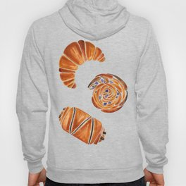 French pastries - croissant, chocolate, rasin Hoody