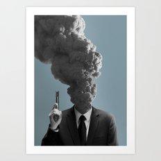 badass volcano Art Print