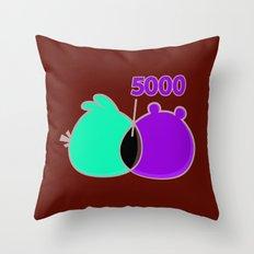 An Angry Venn Diagram (RED) Throw Pillow