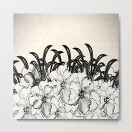 Sketch of Orchids Metal Print