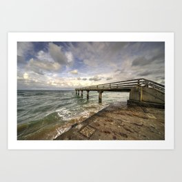 Atlantic Jetty  Art Print