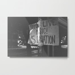 support live music Metal Print