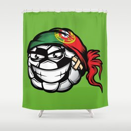 Football - Portugal Shower Curtain