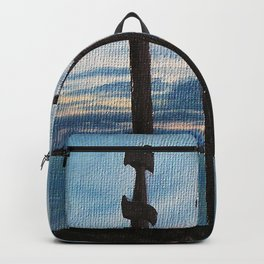 Three Swords - Stavanger Norway / Oil Painting Backpack
