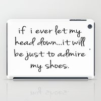 shoes iPad Cases featuring Shoes by I Love Decor