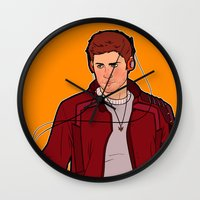 star lord Wall Clocks featuring Star-Lord Dean by rdjpwns