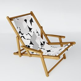 In between the lines and dots Sling Chair