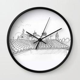 Alcalá Rooftops Wall Clock