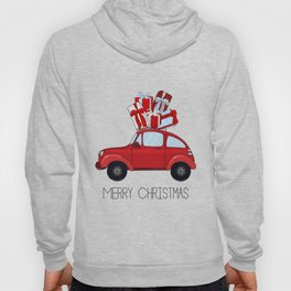 red car with presents Hoody