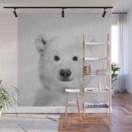 Polar Bear - Black & White Wall Mural