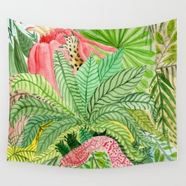 Leaves, Jungle, Snake Wall Tapestry
