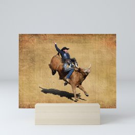 Bull Dust! - Rodeo Bull Riding Cowboy Mini Art Print