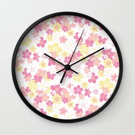 Cherry Blossom-pink Wall Clock