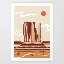 Beyond the Monument Art Print
