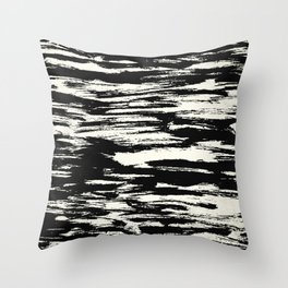 Brush Stripe 2 Throw Pillow