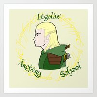 legolas Art Prints featuring Legolas by Art of Tyler Newcomb