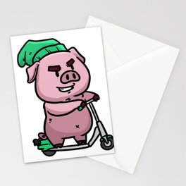 Electric scooter scooter gift sports e-roller cool Stationery Cards