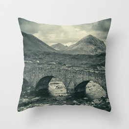 The Bridge and the Cuillin II Throw Pillow