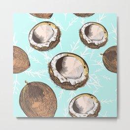 Coconut vector design Metal Print