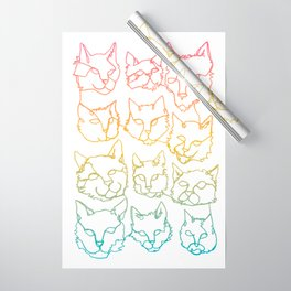 Contour Cats Wrapping Paper