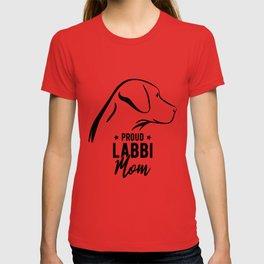 Proud Labbi Mom Labrador Retriever Dog Breed Dog Owner Gift T-shirt