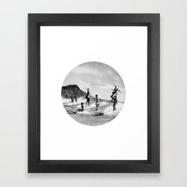 Tandem Surfing Framed Art Print