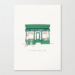 New York City NYC Bakery Canvas Print
