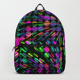geometric circle abstract pattern in pink blue green black Backpack