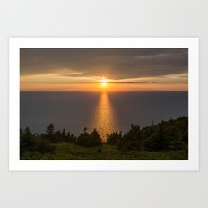 sunset nova scotia Art Print
