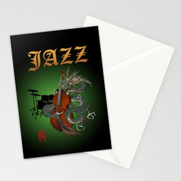 Dragon Contrabass2 Stationery Cards
