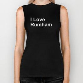 I Love Rumham Biker Tank