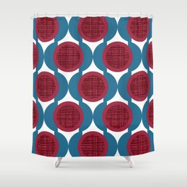 Rosenthal Red Shower Curtain