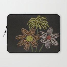 Flowers on blackpaper Laptop Sleeve