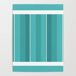 Turquoise Panels Poster
