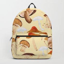 mushroom pattern watercolor painting Backpack
