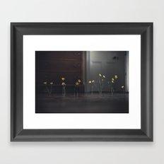Flowers and Floorboards Framed Art Print