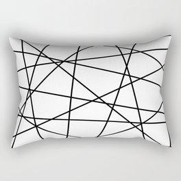 Geometric Lines (black/white) Rectangular Pillow
