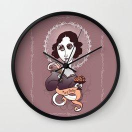 Mary Shelley Holy Writer Wall Clock