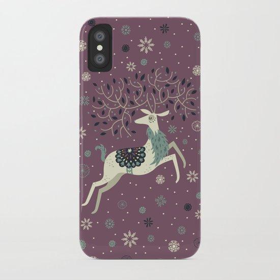 Prancing Reindeer iPhone Case