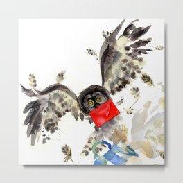 Hogwarts Owl Letter Metal Print