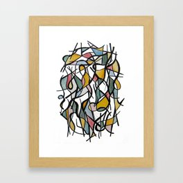 Geometric Abstract Watercolor Ink Framed Art Print