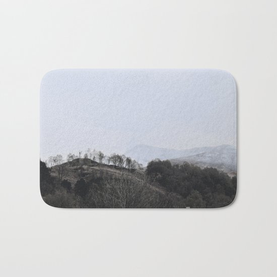 Away, away to the hills and the heart Bath Mat