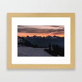 Rising Sun in the Cascades - nature photography Framed Art Print