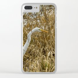 Great Egret Among the Rushes Clear iPhone Case